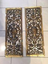 Antique French Ormolu Bronze Gargoyle Door Panel pediment