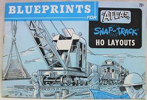 ATLAS SNAP TRACK BLUEPRINTS FOR HO LAYOUTS BROCHURE GUIDE 1960 MODEL RAILROAD