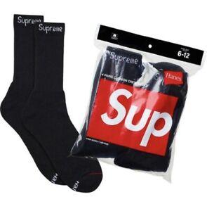 Supreme Hanes Socks Black (Single Pair)
