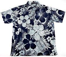 Vintage Nautica Mens Polo Shirt L Large Hawaiian Print Cotton Blend Summer Beach