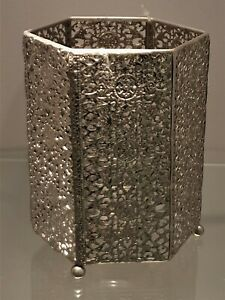 Tealight Holder Lantern Silver Modern Deco Candle Trend Present