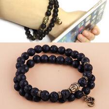 2X Buddha Armband Lava Perlenarmband Perlenarmband Bracelet Natur handgefertigt