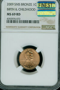 2009 LINCOLN CENT BIRTH CHILDHOOD NGC MS69 SMS RD MAC FINEST MAC SPOTLESS *
