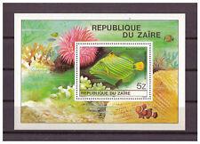 Zaire Congo , Fish Michel Number 672 Block 38, 1980 MNH