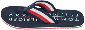Tommy Hilfiger Corporate Print Navy White Red Mens Summer Flipflops