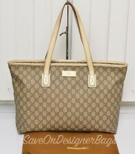 Gucci GG Monogram 211137 Medium Tote Used Authentic w/ Dustbag