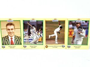 Buttercup Bread 1996 ACB ICC Cricket Card 4 x Promotional Competition Portraits