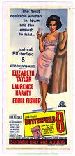 BUTTERFIELD 8 MOVIE POSTER ELIZABETH TAYLOR Orig. Linenbacked Australian Daybill