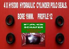 4 X  H19300 F.A.G (SCHAFER) HYDRAULIC POLO SEALS BORE  19MM PROFILE 12