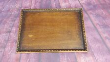 Antique Victorian Edwardian Serving Servants Butlers Wooden Tray Tea Coffee