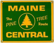 Maine Central Railroad Porcelain Sign
