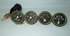 Willys MB Jeep Ford GPW Gauges Kit - Temperature +Oil Pressure+ Fuel+ Ampere