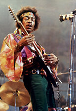 Jimi Hendrix Poster, Playing Guitar, Live in Concert