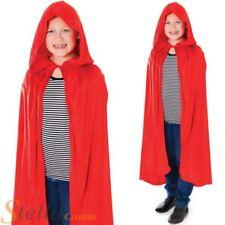 Infantil Caperucita Roja Terciopelo Capa Con Capucha Niña