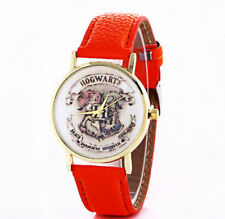 HARRY POTTER WRIST WATCH RED FAUX LEATHER STRAP GRYFFINDOR
