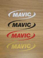 4 MAVIC Cycling Stickers Custom Sizes Colours Bike Decal Frame Forks Wheel