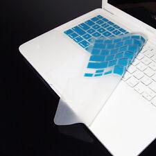 """FULL AQUA Keyboard Skin Cover Case for Macbook White 13"""""""