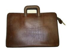 Vintage Pegasus Mens Attache Briefcase Portfolio Document Bag Brown Leather USA