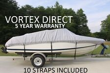 VORTEX TAN/BEIGE 23' TO 24' VH BOAT COVER FOR FISHING/SKI/RUNABOUT
