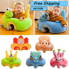 Baby Sofa Support Seat Cover Plush Chair Learning Sit Comfortable Toddler Chair