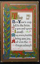 Antique Christmas Card Postcard 1912 Franklin New Hampshire