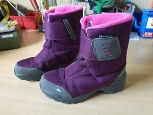Mädchen Kinder Winter Stiefel Gr. 33 von DECATHLON Waterproof