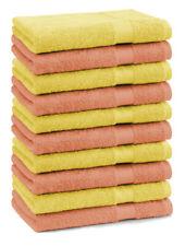 """Lot de 10 serviettes débarbouillettes """"Premium"""" couleur: orange & jaune, taille:"""