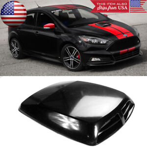 "13"" x 9.8"" Front Air Intake ABS Unpainted Black Hood Scoop Vent For Ford"