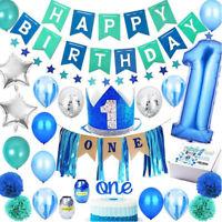 24pcs Happy Birthday 1st Birthday Party Decoration Foil Garland Balloon Crown