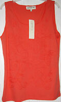 NWT JONES NEW YORK  LADIES TANK W/ APPLIQUE CALYOSO/PEACH  SIZE MED. # 91-TOP