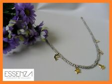 COLLANA CON GRANI ANALLERGICI E CHARMS PLACCATI IN ORO 18 KT REFERENZA DOD 1122