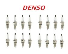 New Set 16 U-Groove Regular Resistor Spark Plugs DENSO For Acura Chevy Daewoo