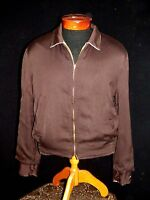RARE VINTAGE REVERSIBLE 1950'S DARK& LIGHT BROWN  GABARDINE JACKET SIZE LARGE