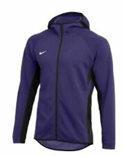 new Nike Dry Showtime Full Zip Basketball Hoodie Purple 930561-545 XLT XL tall