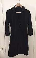 EXPRESS Design Studio Black Solid 3/4 Sleeve Knit Shirt Dress- SZ 4