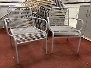 Habitat Ipanema garden chairs grey x2