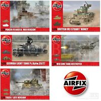 Airfix 1:35 Tanks WW2 Model Kits Panzer Tiger M3 Stuart M10 GMC