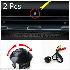 2 Pcs Multifunction 360° Rotatable Car Front/Rear 2 Usage Reverse Backup Camera