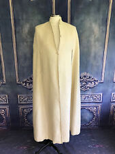 Mock Neck Shaggy Alpaca Wool Floor Length CAPE O/S Ivory Winter GAME OF THRONES