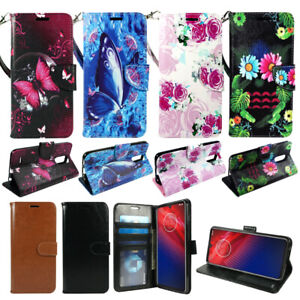 For LG K40, Solo LTE, PU Leather Wallet Phone Case Cover Flip Stand Strap Card