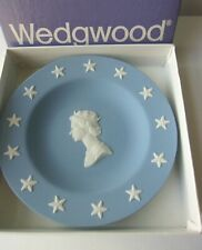 Wedgwood Jasper Pale Blue Round Tray Queen Elizabeth Of England