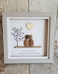 Sister Framed Pebble Art Picture Gift/Home Decor/Birthday