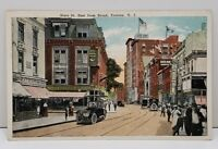 Trenton NJ State St East From Broad St 1920's Postcard Tinted Photo B2