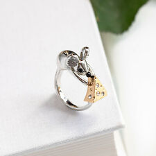 NWT Kate Spade Year of the Rat Mouse & Cheese Crystal Ring Size:8