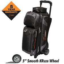 Hammer Premium Triple Roller 3 Ball Bowling Bag Carbon