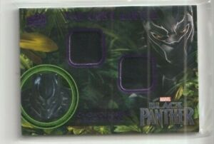 Black Panther Costume Trading Card #KM-BP Chadwick Boseman as Black Panther