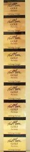 """9 Tad Moore Golf Pro Series Golf Shaft Band Labels Gold/Black 1 7/8"""" x  1 5/8"""""""