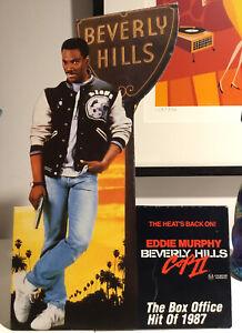 Beverly Hills Cop 2 Cardboard 1987 Store movie Display Standee Eddie Murphy