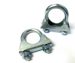 Exhaust Clamp. U Bolt. 28mm. Universal. TV Aerial. Pack of 2. *Top Quality!
