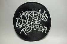EXTREME NOISE TERROR  ROUND  EMBROIDERED  PATCH